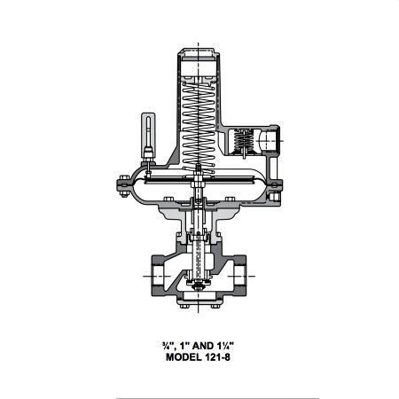Sensus Model 121 Regulator Internal Parts