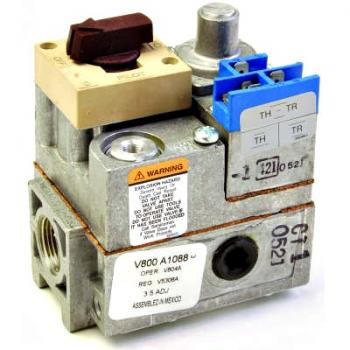 Honeywell V800C1052 Single-stage natural gas 24 Vac standing pilot gas valve