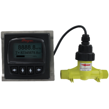 """Dwyer DFMT2-25A Remote Digital Flow Transmitter 1"""" Connection 2.20 to 52.83 GPM"""