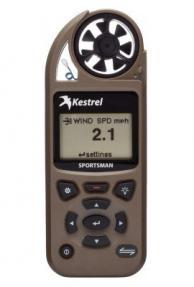 Kestrel Sportsman Coyote Brown Weather Meter with Applied Ballistics with LiNK Vane Mount