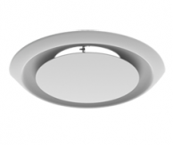 Titus R-OMNI-6 Round Steel Adjustable Plaque Diffuser