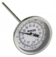 Baker T3009-250 Bimetal Thermometer 0 to 250F (-20 to 120C)