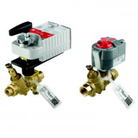 """Honeywell VRN2HUSXD002 Pressure Independent Control Valve & Actuator Assembly 3"""" NPT 45GPM Proportional Non-Spring Return 24V with Auxiliary Switch"""