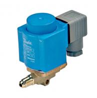 """Danfoss 032F8115 Separate Valve Body for EVR 3 Series Solenoid Vave 1/4"""" x 1/8"""" Flare Without Manual Stem"""